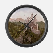 Vintage Neuschwanstein Castle Large Wall Clock