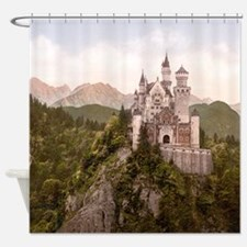 Vintage Neuschwanstein Castle Shower Curtain