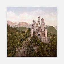 Vintage Neuschwanstein Castle Queen Duvet