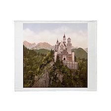 Vintage Neuschwanstein Castle Throw Blanket