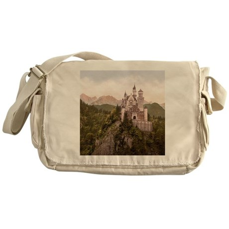 Vintage Neuschwanstein Castle Messenger Bag