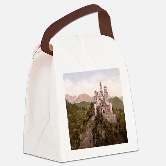 Vintage Neuschwanstein Castle Canvas Lunch Bag