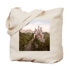 Vintage Neuschwanstein Castle Tote Bag