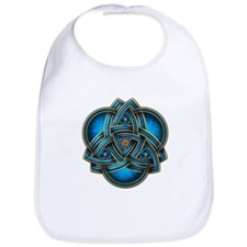 Blue Celtic Triquetra Bib