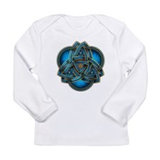 Blue Celtic Triquetra Long Sleeve Infant T-Shirt
