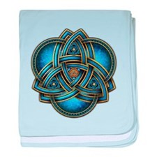 Blue Celtic Triquetra baby blanket