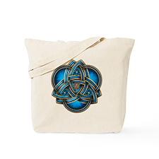 Blue Celtic Triquetra Tote Bag
