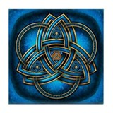 Blue celtic triquetra Drink Coasters