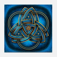 Blue Celtic Triquetra Tile Coaster