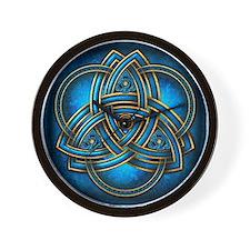 Blue Celtic Triquetra Wall Clock