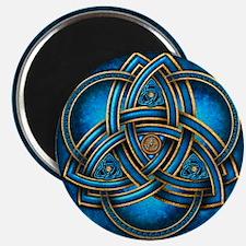 Blue Celtic Triquetra Magnet