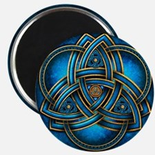 "Blue Celtic Triquetra 2.25"" Magnet (10 pack)"