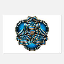 Blue Celtic Triquetra Postcards (Package of 8)