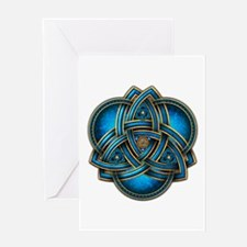 Blue Celtic Triquetra Greeting Card