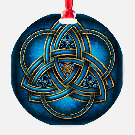Blue Celtic Triquetra Ornament
