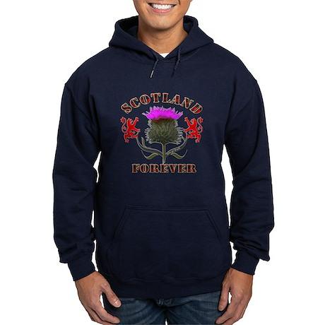 Scotland Forever Thistle Hoodie (dark)