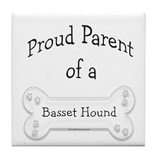 Proud Parent of a Basset Hound Tile Coaster