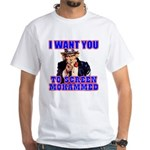 Screen Mohammed Not Grandma White T-Shirt