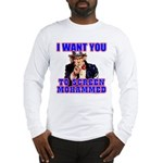 Screen Mohammed Not Grandma Long Sleeve T-Shirt
