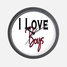 I love boys Wall Clock