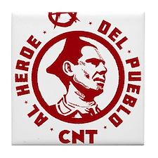 Durruti Anarchism Tile Coaster