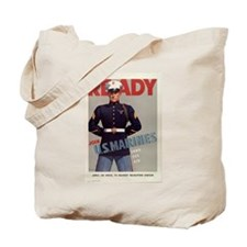READY JOIN U.S. MARINES Tote Bag