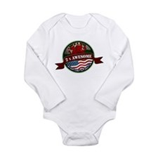 Welsh American 2x Awesome Long Sleeve Infant Bodys