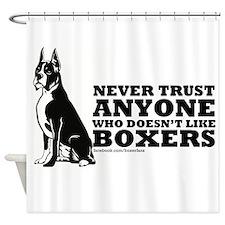 Boxer Fan Shower Curtain