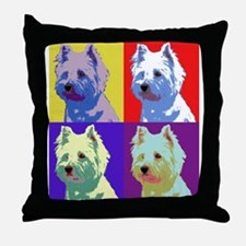 Westie a la Warhol! Throw Pillow