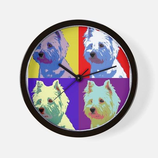 Westie a la Warhol! Wall Clock