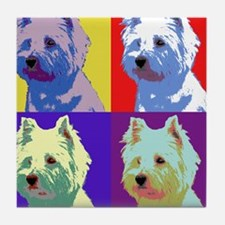 Westie a la Warhol! Tile Coaster
