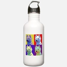 Westie a la Warhol! Water Bottle