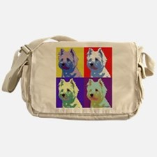Westie a la Warhol! Messenger Bag