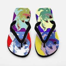 Westie a la Warhol! Flip Flops