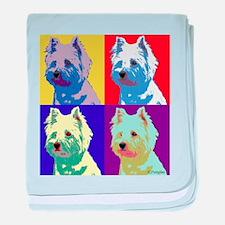 Westie a la Warhol! baby blanket