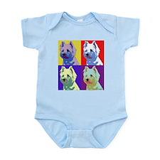 Westie a la Warhol! Infant Bodysuit