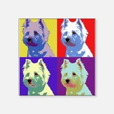 "Westie a la Warhol! Square Sticker 3"" x 3"""