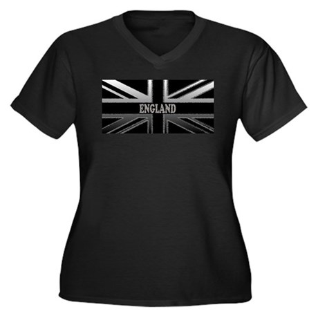 England Union Jack Modern Flag Women's Plus Size V