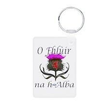 Flower of Scotland Gaelic Keychains