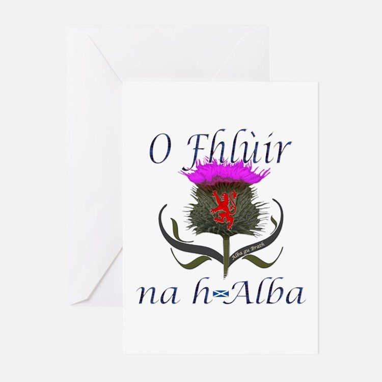 Flower of Scotland Gaeli Greeting Cards (Pk of 10)