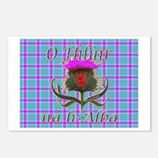 Flower of Scotland Gaelic Postcards (Package of 8)
