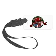 Welsh American 2x Awesome Luggage Tag