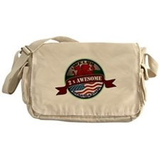 Welsh American 2x Awesome Messenger Bag