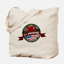 Welsh American 2x Awesome Tote Bag