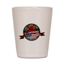 Welsh American 2x Awesome Shot Glass