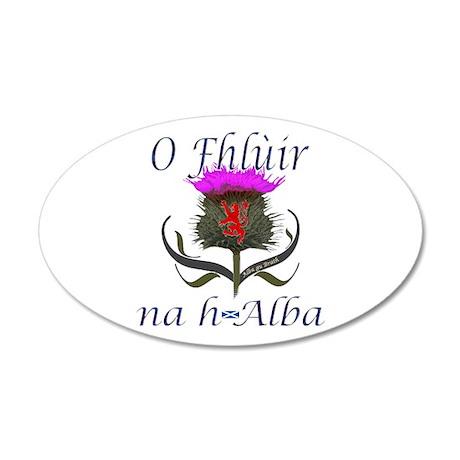 Flower of Scotland Gaelic Th 35x21 Oval Wall Decal