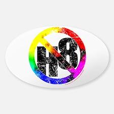 No Hate - < NO H8 >+ Sticker (Oval)