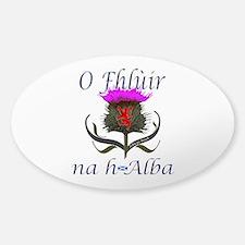 Flower of Scotland Gaelic Thistle Sticker (Oval)