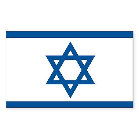 Israel Flag Rectangle Sticker