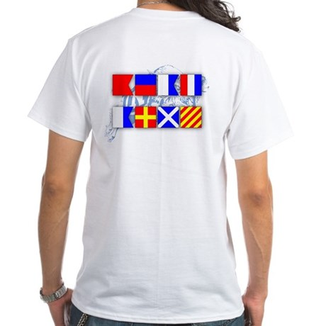 Beat Army Signal Flags White T-Shirt